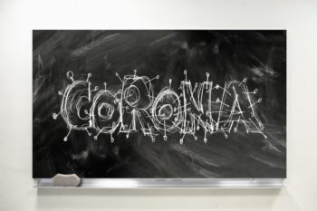 Corona Font Chalk Board School  - geralt / Pixabay