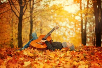 Fall Foliage Leaves Guitar  - ColdwellPro / Pixabay