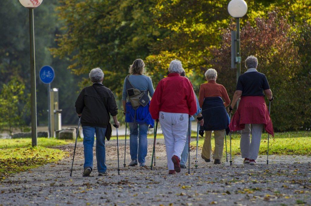 Nordic Walking Walkers Go Together  - bluelightpictures / Pixabay