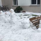 Schneemenschen im Möckernkiez
