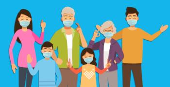 Family Masks Covid  Corona Home  - ArtsyBeeKids / Pixabay
