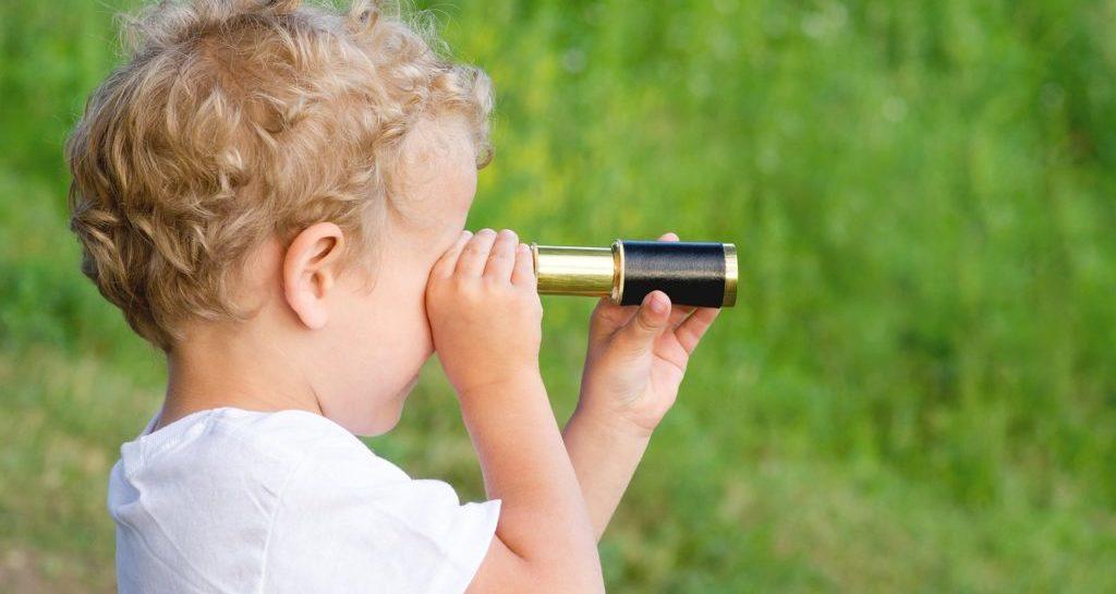 Child Boy Blonde Curls Telescope  - QuakerGirl22 / Pixabay